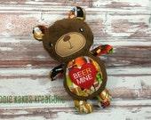 Custom Plush Valentine's Day Teddy Bear / Beer Mine / Be Mine / Stuffed Animal / Ready to Ship