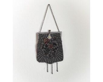Vintage 1920s Art Deco Beaded Purse Handbag As Is Display