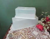 Tupperware Butter and Cheese Containers Frosty White 1970s