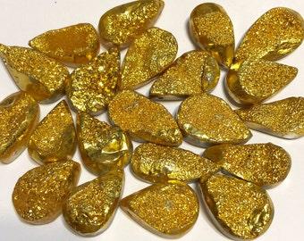 Golden Druzy pendant Bead