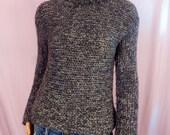 Womens Wool Pullover Grey Tweed