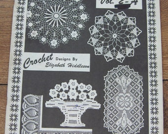 Vintage 70s crochet pattern Elizabeth HIDDLESON volume 2-A doilies