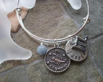 Scorpio Adjustable Bangle - Zodiac Jewelry - What's Your Sign - Water Element - Horoscope Bracelet
