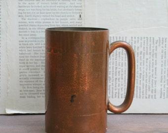 Vintage Rhodesian Copper Hand Made Tankard Mug