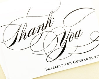 Thank You Cards, Wedding Thank You Cards, Note Cards, Thank You Note Cards, Modern Calligraphy Thank You