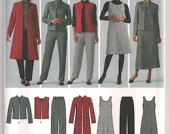 Mix Match Wardrobe Simplicity 4789 Jacket Pattern, Jumper Pattern, Vest and Pants, Office Wear, Full Size Women, Plus Size 20W- 28W