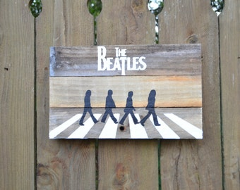 The Beatles Abbey Road Wood Sign