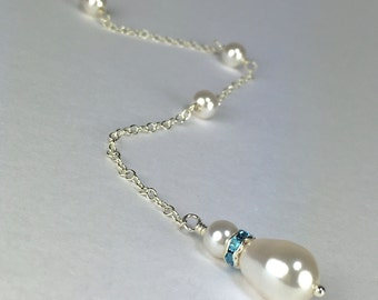 Blue Bridal Shower Gift Something Blue Bridal Shower Gift Pearl Bridal Accessory Meghan
