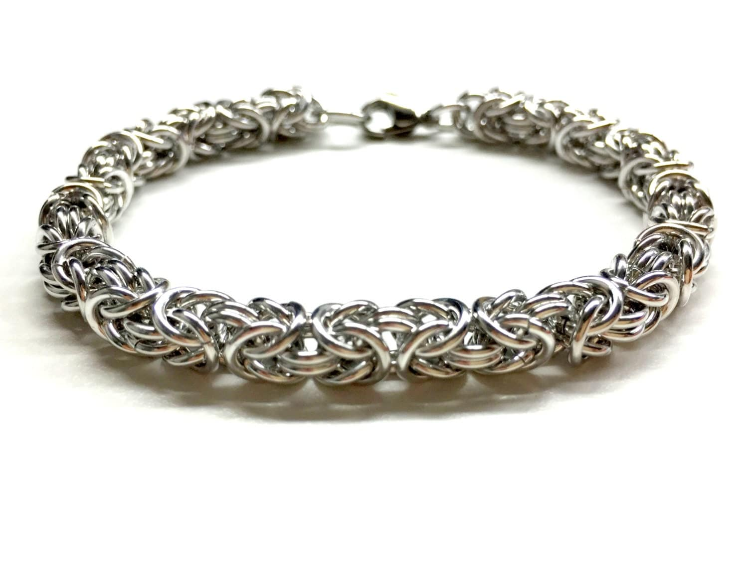 cool mens bracelet silver chain bracelet chainmaille