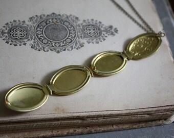 Mothers Day Gift Photo Locket - Vintage Locket Necklace - Folding Locket