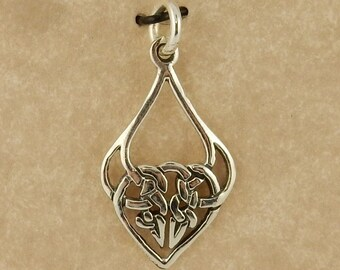 Sterling silver Celtic Knot pendant, charm