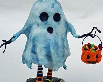 Halloween Art Doll Ghost Glow in the Dark Sculpture