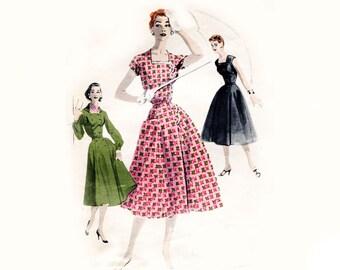 1960s Muu Muu And Nightgown Pattern Square By