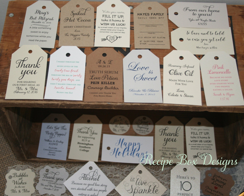 Handmade Wedding Gift Tags : Custom Favor Tags Wedding Favor Tag Gift Tag Bridal Shower