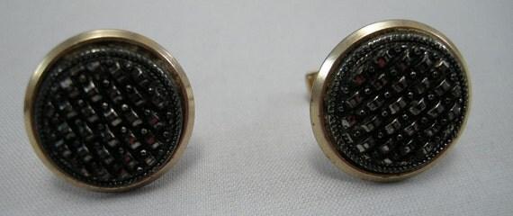Vintage Marcasite/Steel point Dress Mens/Woman's Unisex Dress Cufflinks, Marcasite Jewelry,Retro Glass Jewelry,