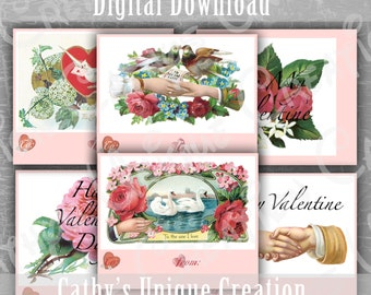 Vintage Valentines Day cards Printable Valentine Day Cards Victorian Classic Printable Work Adult Valentine Cards Instant Download Valentine