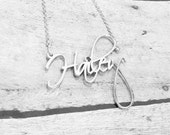 Best Name Necklace - Personalized Name Necklace - Custom Name Necklace - Sterling Silver Name Necklace - Swarovski Element Name Necklace