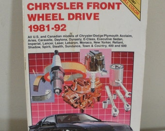 Vintage 1981-92 Chiltons Manual Chrysler Front Wheel Drive