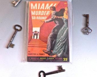 Vintage Pulp Fiction Book -40s Hard Boiled Novel Miami Murder Go-Round - on sale