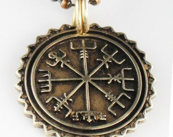 Viking Nautical Compass Mariner Pendant - Mariner Vegvisir Compass Pendant Necklace - Vegvisir Key Ring Compass Gift -Nordic Viking Vegvisir