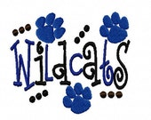 Wildcats Machine Embroidery Design 4x4 7x5 10x6 University of Kentucky Team Instant Download Basketball Football Baseball Soccer Sports baby