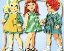 1960s Vintage McCalls Sewing Pattern 9061 14 to 18 In Betsy Wetsy Doll Clothes