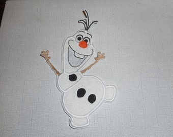 Free  Shipping  Ready to Ship  Snowman  Machine Embroidery   Iron on applique