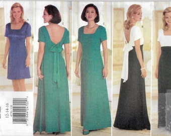 Uncut, Misses Size 12-16,  Sewing Pattern, Butterick 4776, Woman, Dress Evening Gown, Maxi, Formal, Bridesmaid, Wedding Party, Donna Ricco