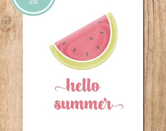 Hello Summer Printable Art