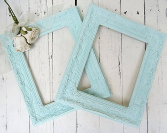 French Country Frames, Vintage Inspired Frames, AquaFrames, Fancy Ornate Frames, Shabby Chic Cottage Decor, French Country, Paris Apartment
