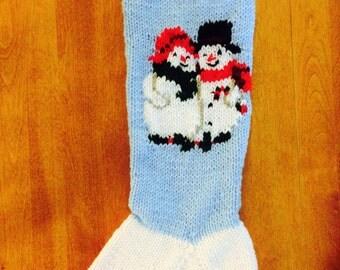 Christmas Mrs. Snowman Stocking, Custom Snowman Stocking, Christmas Stocking, Christmas Stocking Personalized