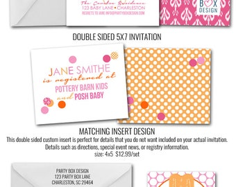 About to POP-sicle Baby Shower Invites (20 printed + envelopes)