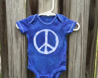 Peace Sign Baby Bodysuit (3 months),  Blue Peace Baby Bodysuit, Baby Boy Peace Sign, Baby Girl Peace Sign, Peace Sign Baby Gift