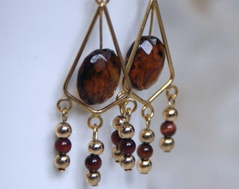 Chocolate and Gold - Earrings