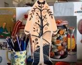 Hand painted wooden sculpture - The Orangerie Man