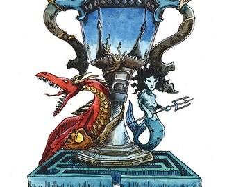 Twi-Wizard Tournament postcard (Harry Potter)