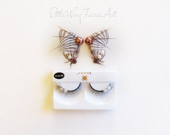White Striped Butterfly Eyelashes