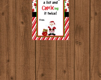 Chex Mix Gift Tags, Chex Mix Christmas, Printable Chex Mix Treat Bag, Chex-ing it twice, Instant Download