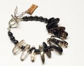 Smokey Quartz Beaded Bracelet