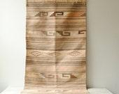 Vintage Flat Weave Boho Rug, 5' x 2.5'