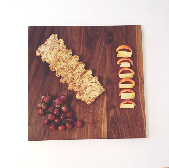 "18"" x 18"" Large Walnut Cutting Board. Walnut Cheese Tray. Serving. Domestic Hardwood. Square. Rustic Kitchen Decor"