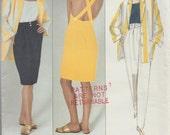 Vogue 2475 / Vintage Designer Sewing Pattern By Perry Ellis / Dress Skirt Jacket Pants / Sizes 12 14 16