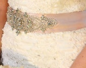 Yulia Wedding Dress Beaded Sash Crystal Belt