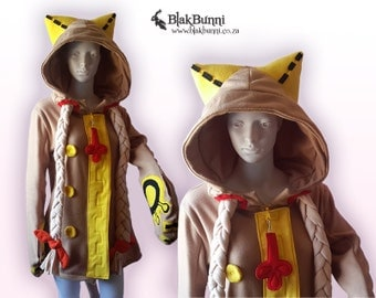 MADE TO ORDER - Taokaka inspired blazblue hoodie kitty paws