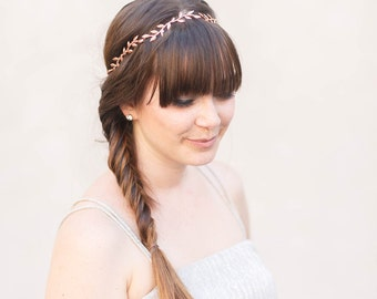 Simple Leaf Vine Crown -  Gold, Silver, or Rose Gold Bridal Boho Headband,halo, hair piece, leaf crown, wedding, bridal, boho hair accessory