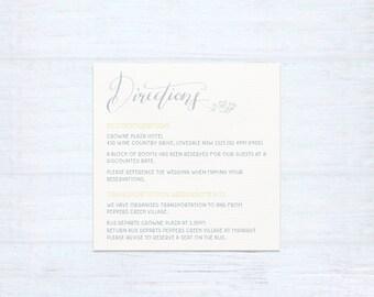 Printed Information Card – Laurel