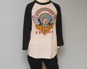 Vintage Shirt Size XL Van Halen TShirt David Lee Roth 1984 Tour Of The World Rock T-Shirt Concert T Shirt Tour Tee Vintage Van Halen 80s
