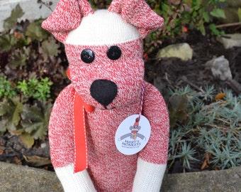Puppy Dog in Red, Sock Monkey Doll