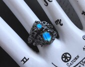 Sea Nymph Solitaire Stacking Ring