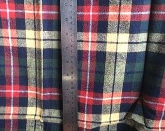 Cozy Green Plaid Flannel Fabric Yardage Destash